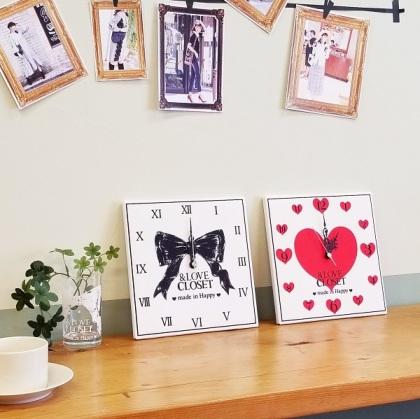 &LOVE CLOSET壁掛け時計 予約販売
